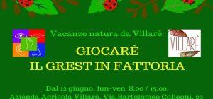 Giocarè il Grest a Villarè – Vacanze Natura